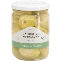 CAPRICHOS del PALADAR Artichoke Hearts in Brine 12/14 count One Pallet with 144 Trays with 12 Jars of 400 net grams