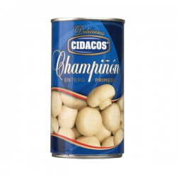 CIDACOS Whole Mushroom 1/2 Tray with 12 Cans of 355 net grams - Conservalia
