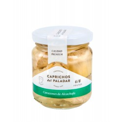 CAPRICHOS del PALADAR Hearts of Artichoke 6/8 Tray with 12 Jars of 200 net grams - Conservalia
