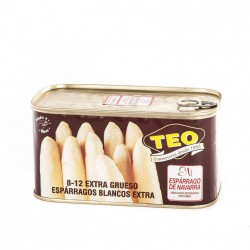 TEO Extra White Asparagus 8/12 Tray with 12 Cans of 780 net grams - Conservalia
