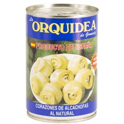 LA ORQUIDEA Artichoke Hearts in Brine 10/12 count One Pallet with 144 Trays with 12 Cans of 390 net grams