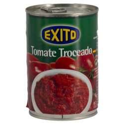 EXITO Chopped Tomatoes One Pallet with 144 Trays with 12 Cans of 400 net grams - Conservalia