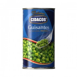 CIDACOS Extra Peas 1/2 One Pallet with 112 Trays with 12 Cans of 345 net grams - Conservalia
