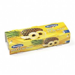 MONTEY Pineapple Slices in Juice One Pallet with 108 Trays with 8 Pack-3 Cans of 681 net grams (3 x 227 g) - Conservalia