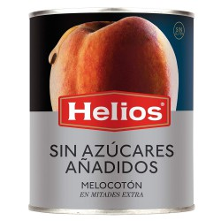 HELIOS Peach Halves without added Sugar One Pallet with 60 Trays with 12 Cans of 840 net grams