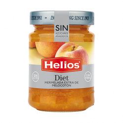 HELIOS Diet Peach Jam Jar with 280 net grams - Conservalia
