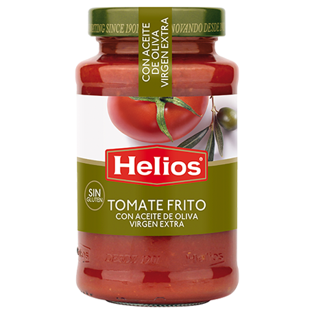 HELIOS Mediterranean Tomato Sauce with Extra Virgin Olive Oil Jar with 560 net grams - Conservalia